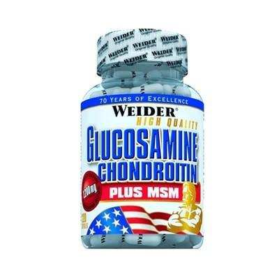 Comprar Colágeno y Articulaciones WEIDER - GLUCOSAMINE CHONDROITIN PLUS MSM - 120 CAPS marca Weider. Precio 29,99€