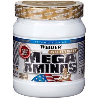 Comprar Aminoácidos Esenciales WEIDER - MEGA AMINOS - 300 TAB marca Weider. Precio 28,99€