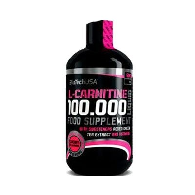 Comprar Reductores Sin Estimulantes BIOTECHUSA - L CARNITINE 100.000 LIQUID 500 ML marca BioTechUSA. Precio 25,90€