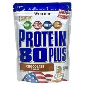 Comprar Proteínas Secuenciales WEIDER - PROTEIN 80 PLUS 500 GR marca Weider. Precio 19,99€