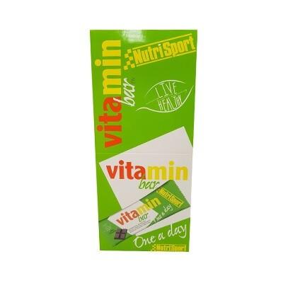 Comprar Barritas de Vitaminas NUTRISPORT - VITAMIN BAR - BARRITA VITAMINADA 20 BARRITAS * 30 GR marca NutriSport. Precio 19,99€