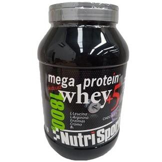 Comprar Concentrado de Suero NUTRISPORT - MEGA PROTEIN WHEY +5 1.8 KG marca NutriSport. Precio 58,05€