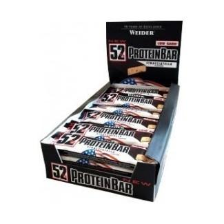 Comprar Barritas de Proteína WEIDER - 52% PROTEIN BAR 24* 50 GR. marca Weider. Precio 62,40€
