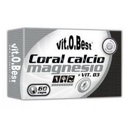 Comprar Vitaminas VITOBEST - CORAL CALCIO MAGNESIO + VIT D3 60CAPS marca VitOBest. Precio 7,99€