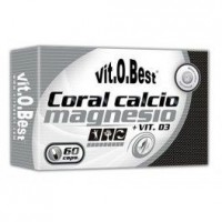 Comprar Vitaminas VITOBEST - CORAL CALCIO MAGNESIO + VIT D3 60CAPS marca VitOBest. Precio 8,90€