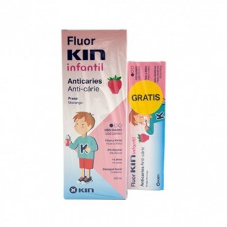 Comprar Infantil KIN - COLUTORIO INFANTIL ANTICARIES FRESA + PASTA INFANTIL ANTICARIES FRESA marca KIN. Precio 4,80€