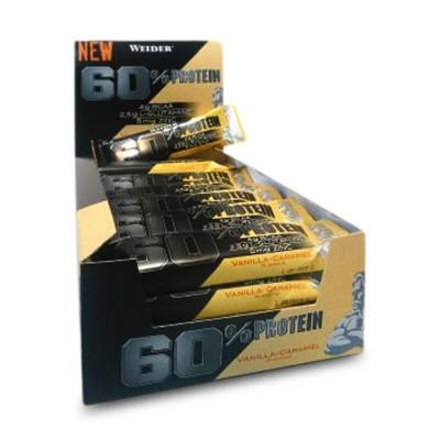 Comprar Barritas de Proteína WEIDER - 60% PROTEIN BAR - 24 BARRITAS * 45 GRAMOS marca Weider. Precio 50,16€