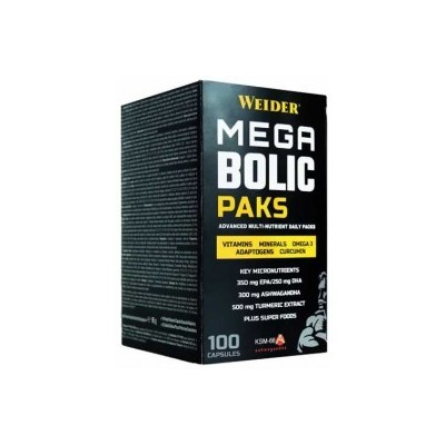 Comprar Vitaminas WEIDER - MEGABOLIC PAKS - 100 CAPSULAS marca Weider. Precio 27,99€