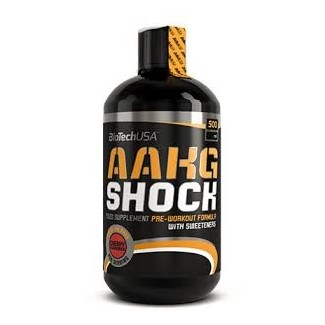 Comprar Pre-Entrenos BIOTECHUSA - AAKG SHOCK - PRE-ENTRENO 500 ML marca BioTechUSA. Precio 18,90€