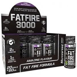 Comprar Quemadores Termogénicos NUTRYTEC - PERFORMANCE PLATINUM SERIES - FAT FIRE 3000 1 SHOT*60 ML marca Nutrytec. Precio 0,...