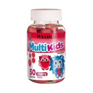 Comprar Vitaminas WEIDER - MULTI KIDS GUMMIES - MULTIVITAMINICO 50 GOMINOLAS marca Weider. Precio 7,63€
