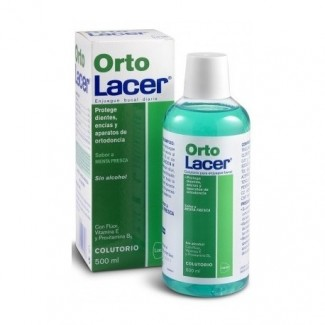 Comprar Bucal LACER ORTOLACER COLUTORIO MENTA 500ML marca Lacer. Precio 6,24€
