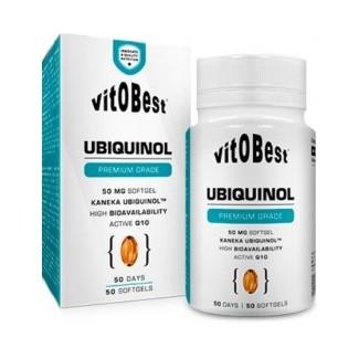 Comprar Vitaminas VITOBEST - UBIQUINOL 50 PERLAS marca VitOBest. Precio 27,90€