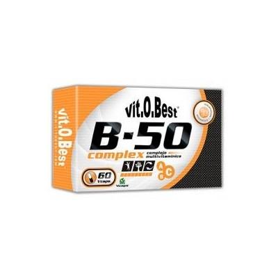 Comprar Vitaminas Minerales y Antioxidantes VITOBEST - B-50 COMPLEX - 60 CAPS marca VitOBest. Precio 10,90€