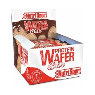 Comprar Barritas de Proteína NUTRISPORT - PROTEIN WAFER - BARRITA PROTEICA CHOCOLATE 15 BARRITAS x 40 GR marca NutriSport. Pr...