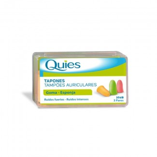 Comprar Botiquín QUIES TAPONES OIDOS GOMA 6 U marca DEITERS. Precio 3,10€