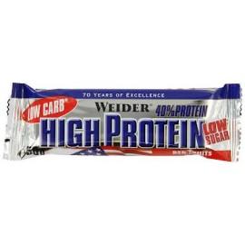 Comprar Barritas de Proteína 40% LOW CARB HIGH PROTEIN BAR - 1 BARRITAS * 50 GR marca Weider. Precio 2,19€