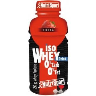 Comprar Proteínas Listas para Consumo NUTRISPORT - ISO WHEY DRINK 330ML FRESA marca NutriSport. Precio 2,90€