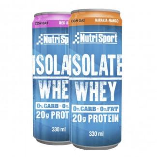 Comprar Proteínas Listas para Consumo NUTRISPORT - ISOLATE WHEY CON GAS 330ml marca NutriSport. Precio 2,85€