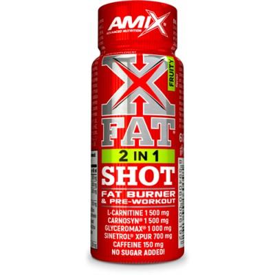 Comprar Reductores Con Estimulantes AMIX XFAT 2 EN 1 SHOT - 1 VIALES X 60 ML marca Amix ® Nutrition. Precio 1,90€