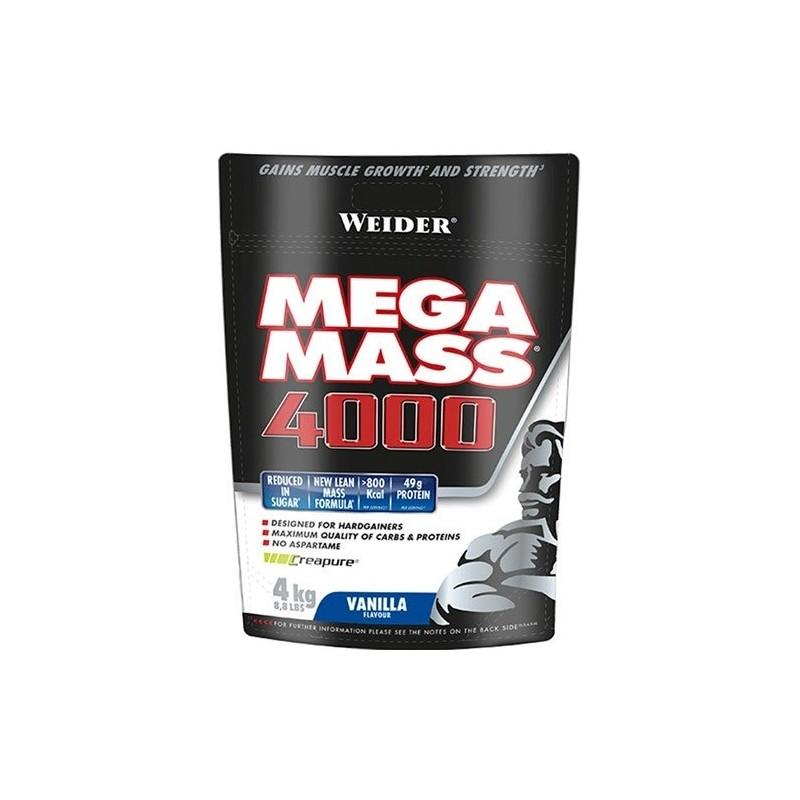 Comprar Hidratos de Carbono WEIDER - MEGA MASS 4000 4KG marca Weider. Precio 55,99€
