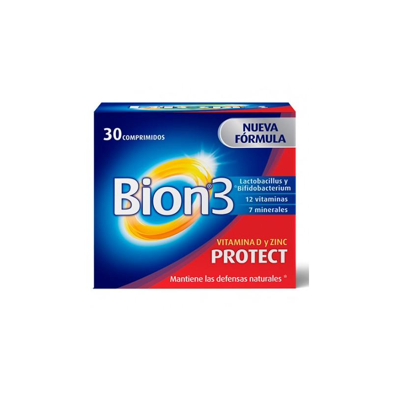 Comprar Multivitamínicos BION3 PROTECT VITAMINA D Y ZINC 30 COMPRIMIDOS marca . Precio 9,40€