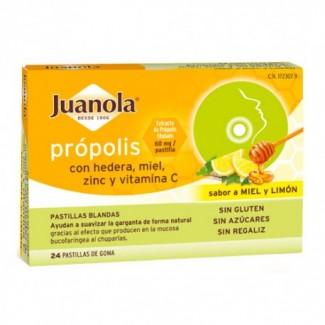 Comprar Garganta JUANOLA PROPOLIS HEREDA SABOR MIEL Y LIMON EXP:1/22 marca . Precio 4,00€