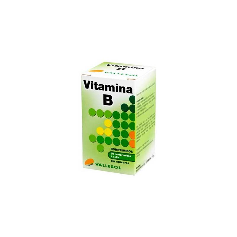 Comprar Vitaminas Vallesol Vitamina B 30 Comprimidos marca . Precio 6,00€