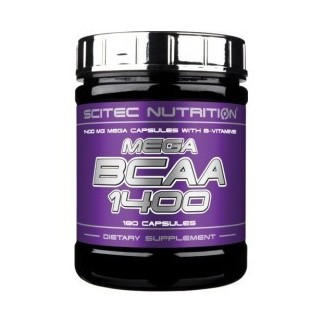 Comprar BCAA´S SCITEC - MEGA BCAA 1400 180 CAPS marca Scitec Nutrition. Precio 20,20€