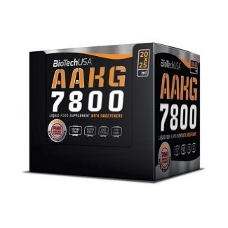 Comprar Pre-Entrenos BIOTECHUSA - AAKG 7800 - PRE-ENTRENO 20 VIALES * 25 ML marca BioTechUSA. Precio 39,90€
