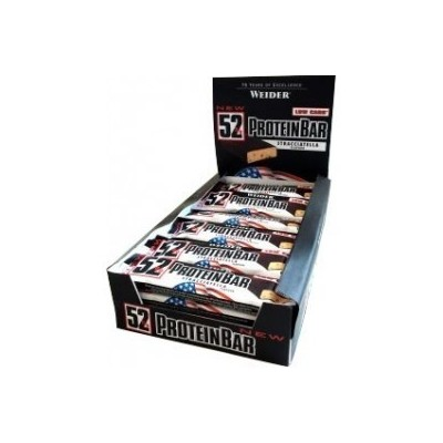 Comprar Barritas de Proteína WEIDER - 52% PROTEIN BAR 24*50 GR marca Weider. Precio 62,40€