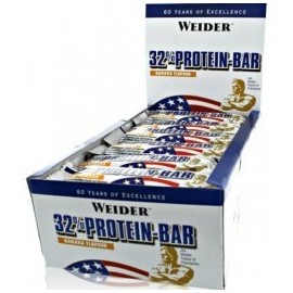 Comprar Barritas de Proteína WEIDER - 32% PROTEIN BAR marca Weider. Precio 49,20€