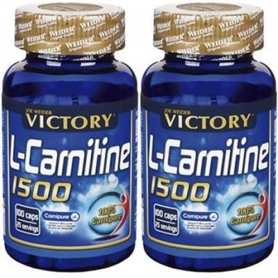 Comprar Reductores Sin Estimulantes VICTORY - PACK DUO L-CARNITINE 1500 100 CAPS marca Victory. Precio 29,99€