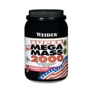 Comprar Hidratos de Carbono WEIDER - MEGA MASS 2000 1.5 KG marca Weider. Precio 24,55€