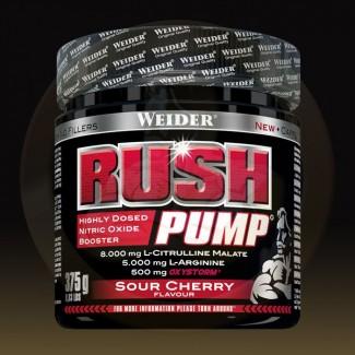 Comprar Pre-Entrenos ( CAD : 08/19 )    WEIDER - RUSH PUMP - PRE-ENTRENO 375 GR marca Weider. Precio 27,29€